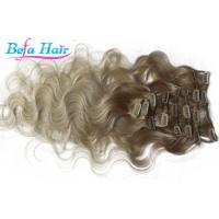 Cheap Brazilian Body Wave Remy Clip In Hair Weave Colored Ombre Hair Extensions for sale