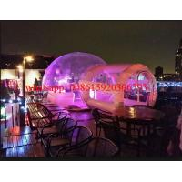 Cheap inflatable crystal bubble tent , inflatable clear dome tent, clear plastic tent with light for sale