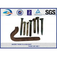 Cheap Q235 35# 45# Railroad Tie Screw Spike Timber Spike Rail Dog Spike for sale