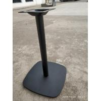Cheap Round Column Cast Iron Table Base Square Shape Powder Coat Finish For Restaurant for sale