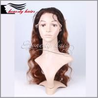 Cheap Full lace wig, T colors BW 100% remy hair, Front lace/Machined wig can be customized. for sale