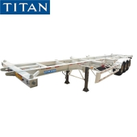 Cheap 40ft Container Chassis Trailer Tri Axle Chassis for Sale in Nigeria for sale