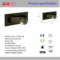 Quality Modern recessed mounted led headboard wall light/hotel led reading light/led bed wholesale