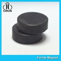 Cheap Y30BH Disc Shape Ferrite Magnet , Round Disk Magnets Dia 18mm * 5mm for sale