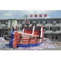 Cheap Attractive Commercial Inflatable Combo Pirate Ship , Bouncy Castle Slide With Obstacle Course for sale