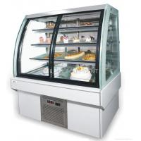 Cheap 380L marble chiller with curved glass cake display for sale