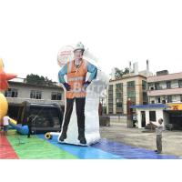 Cheap Custom Inflatable Advertising Products , Event Decoration Clean Woman Inflatable Model Character for sale