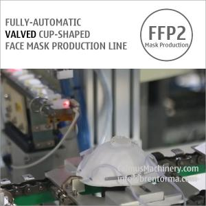 Cheap Fully-automatic Valved Cup Mask Making Machine Production Line for sale