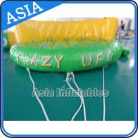 Cheap 5 Person Water Ski Tube Inflatable Boats Crazy UFO Shaped 0.9mm PVC Tarpaulin wholesale