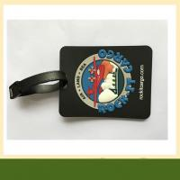 Cheap 3D embossed PVC Luggage Tag Durable Customized pvc silicone rubber coaster with logo for sale
