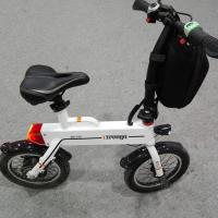 Cheap Green 12 Inch Foldable Electric Scooter , Mini Smart Bike 25 km / h wholesale