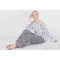 Cheap Comfortable Dotted Womens Pyjama Sets Long Sleeve Top And Pants Soft Handfeel for sale