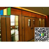 Cheap Acoustic Rate 45 Db Commercial Sliding Doors Wall Partition 3.346 Inch Thickness for sale