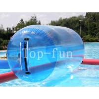 Buy cheap Blue Transparent Inflatable Water Roller for lake rental use from Wholesalers