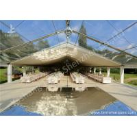 Cheap Clear and White Top Fabric Cover Outdoor Aluminum Luxury Wedding Tents wholesale