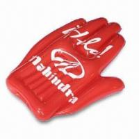 Cheap 41 x 80cm Inflatable Hand, Made of PVC, Suitable for Promotional Purposes for sale