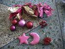 OME Small Pink Star,  Ball Commercial Christmas Decorations Tree Ornaments Baubles