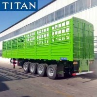 Cheap (Spot Promotion) China Stake Semi Trailer 4 Axle 60 Ton Fence Cargo Truck Trailer for Sale for sale