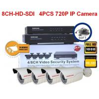 Cheap 8CH HD - SDI Security Cameras With 4pcs HD 720P IP Cameras for sale