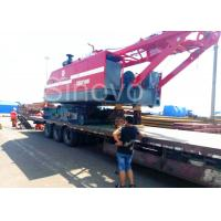 Cheap Red Color Low Ground Pressure Hydraulic Crawler Mounted Crane For Chemical Industry for sale