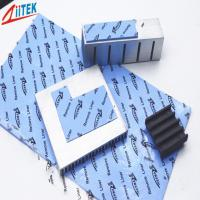 China Blue Color Electronic Thermal Gap Filler , Gpu Ic Chip Thermal Conductive Pad on sale