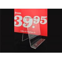 Cheap Custom Clear Acrylic Sign Holder , Acrylic Menu Poster Holders For Display for sale
