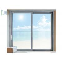 Cheap Triple Track Aluminum Sliding Windows Residential Single / Double Glazed Glass wholesale