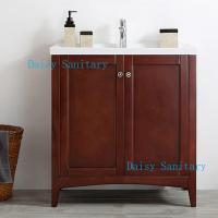 China Single Style American Bathroom Vanity With Drop - In Ceramic Basin Without Mirror on sale