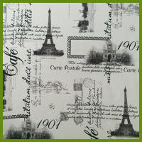 Buy cheap Eiffel Tower or La Tour Eiffel printed designs tablecloth made of 100% polyester from wholesalers