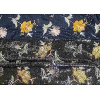 Quality Embroidery Sequin Lace Fabric with 3D Elegant Multi Colored Flowers Pattern wholesale