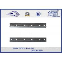 Quality Plain Surface 6 Holes Rail Joint Bar Railroad Fish Plate For UIC60 UIC54 Steel Rail wholesale