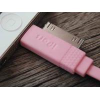 Cheap Pink 2 In 1 Cell Phone USB Cable 100cm , IPhone Micro Usb Charging Data Cable wholesale