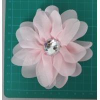 Cheap Chiffon artificial pink flower corsage for sale