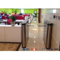 Cheap Fingerprint Drop Arm Turnstile , Road Access Control Electronic Barrier Gates for sale