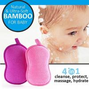 Cheap Wholesale eco-friendly bamboo fiber soft baby bath sponge for Child for sale