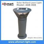 Cheap Aluminum H60cm Solar  Bollard LED Lighting Parking-Lot Bicycle Path Solar Garden Lawn Lights Solar Sensor Lights for sale