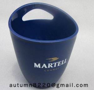 Cheap Clear dark blue plastic ice bucket for sale