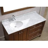Cheap Galaxy White Bathroom Vanity Countertops With Sink  Marble Left Side Sink Vanity Top for sale