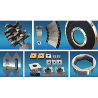 China Coated Fixed  Tyre Cutting Blades , Shredder Replacement Parts High Intensity on sale