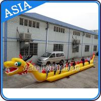 Cheap Yellow Dragon Banana Shaped Inflatable Boats 12 Person Water Sport Games For Adult wholesale