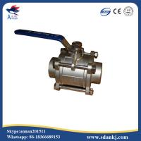Cheap stainless steel 304 high quality 3pcs threaded type ball valve for water gas oil for sale