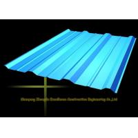 Cheap Long Span Color Coated Metal Corrugated Roofing Sheets / PPGI Roof Steel Panels for sale