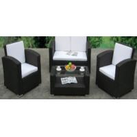 Cheap 4pcs steel rattan sofa set for sale