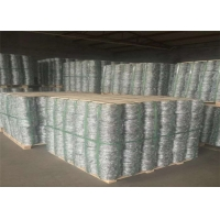 China 2.0mm x 2.5mm 4 Point Prison Barbed Wire 18KGS Per Roll On Pallet Packing on sale