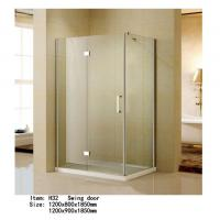 Cheap Rectangle Folding Frameless Glass Shower Enclosures With Stainless Steel Hinges Fixed for sale