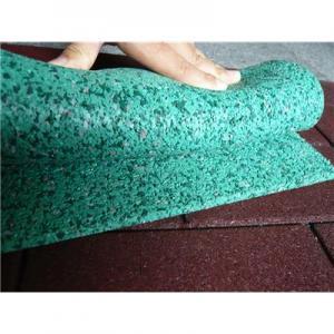 Cheap Green Color 500*500*15mm EPDM  Rubber Tiles for sale