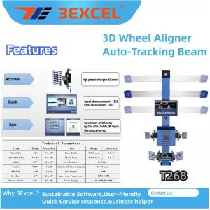 Cheap Turntables Auto Trucking Beam T268 3d Wheel Alignment for sale
