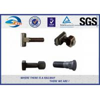 Cheap Railroad Fastener Qualified Railway Bolt  with washer / heavy square nuts for sale