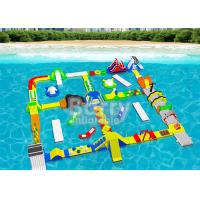 Cheap Open Water Inflatable Floating Water Park Adventures For Adults And Kids for sale