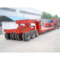 Cheap Hydraulic steering lift low loader Multi Axle Trailer for heavy duty equipment transport for sale